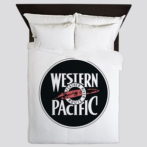 Western Pacific Railroad Feather Route Queen Duvet
