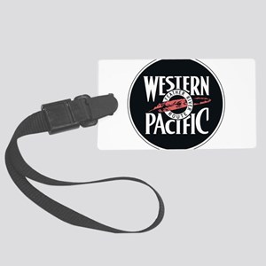 Western Pacific Railroad Feather Large Luggage Tag