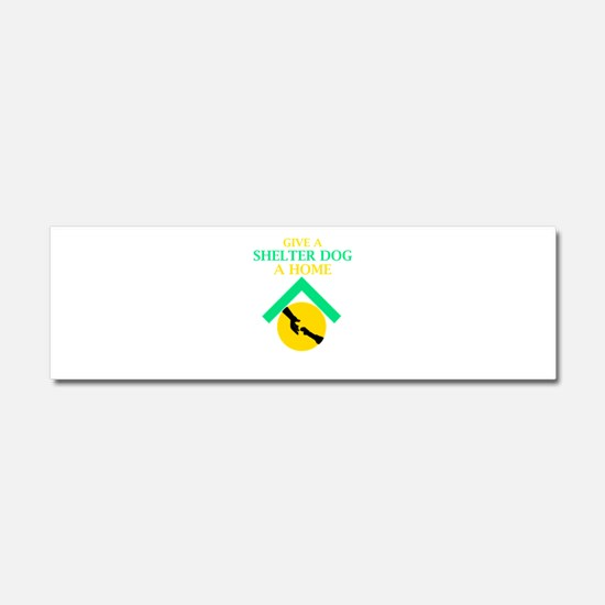 Give a shelter pet a loving home Car Magnet 10 x 3