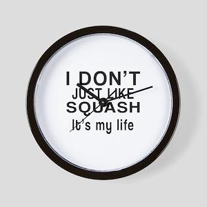Squash It Is My Life Wall Clock