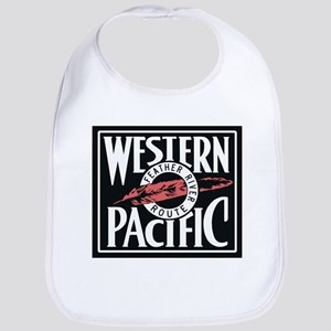 Western Pacific Railroad Feather Route 2 Baby Bib