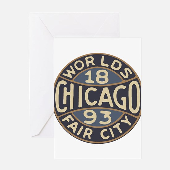 1893 Chicago World's Fair design lo Greeting Cards