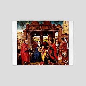 Adoration 3 Kings- Weyden 5'x7'Area Rug