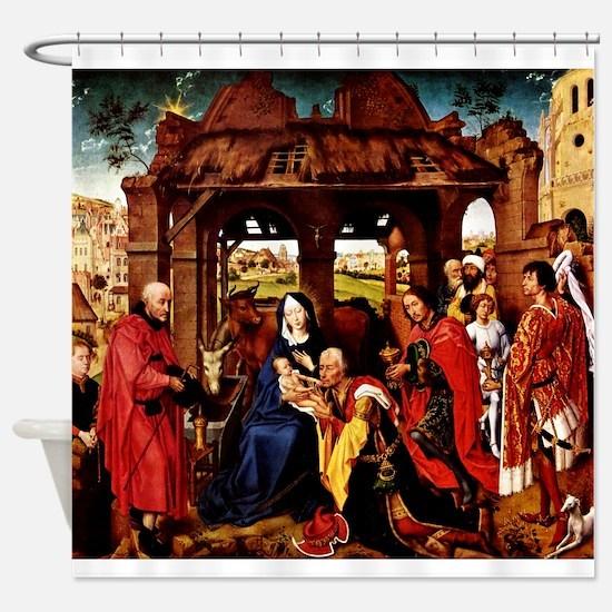Adoration 3 Kings- Weyden Shower Curtain