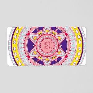 colorful Mandala Aluminum License Plate