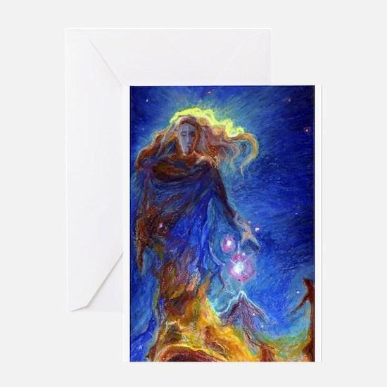 Lady Nebula Greeting Cards