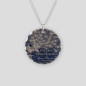 Pride and Prejudice, Peacock; Vintage Art Necklace