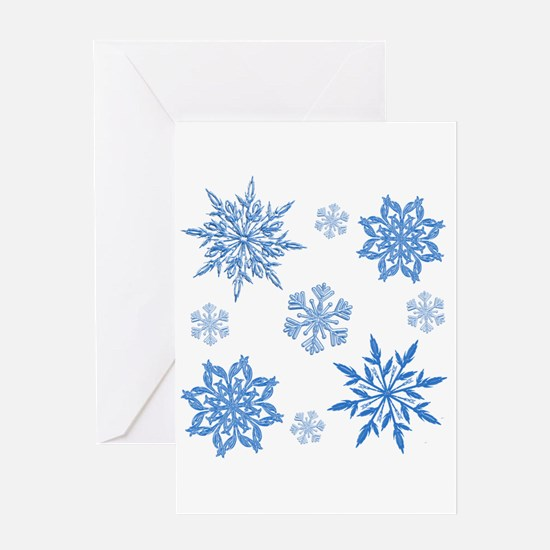 Snowflakes Greeting Cards