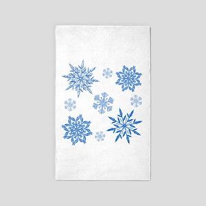 Snowflakes Area Rug