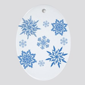 Snowflakes Oval Ornament