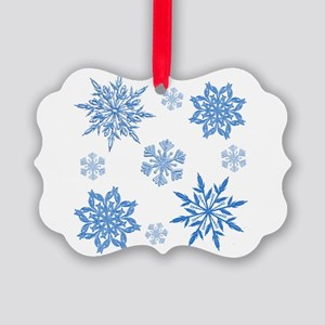Snowflakes Picture Ornament