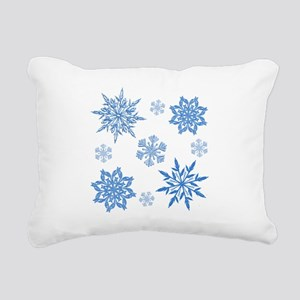 Snowflakes Rectangular Canvas Pillow