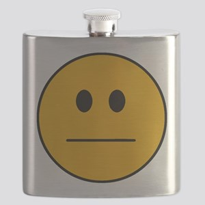 Deadpan Smilie Flask