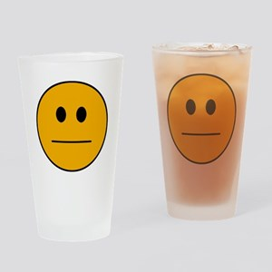 Deadpan Smilie Drinking Glass