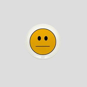 Deadpan Smilie Mini Button