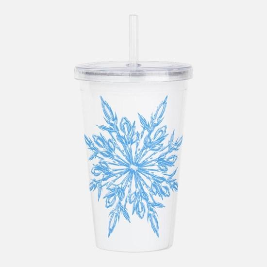 Cute Snowflake Acrylic Double-wall Tumbler