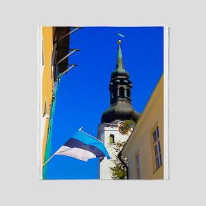Blue Skies of Estonia Throw Blanket