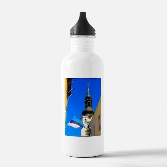 Blue Skies of Estonia Water Bottle