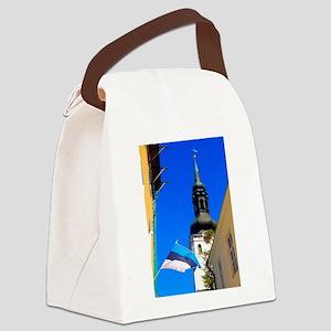 Blue Skies of Estonia Canvas Lunch Bag