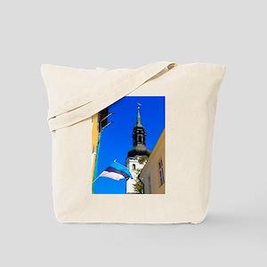 Blue Skies of Estonia Tote Bag