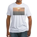 p0129. venice beach Fitted T-Shirt