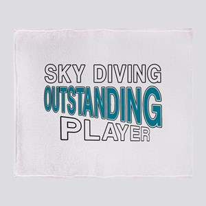 Sky Diving Outstanding Player Throw Blanket