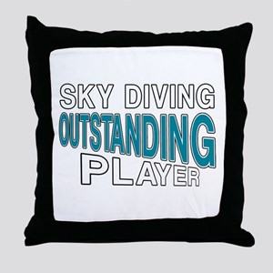 Sky Diving Outstanding Player Throw Pillow