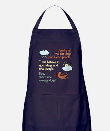 Dog Rescue T Shirt Apron (dark)