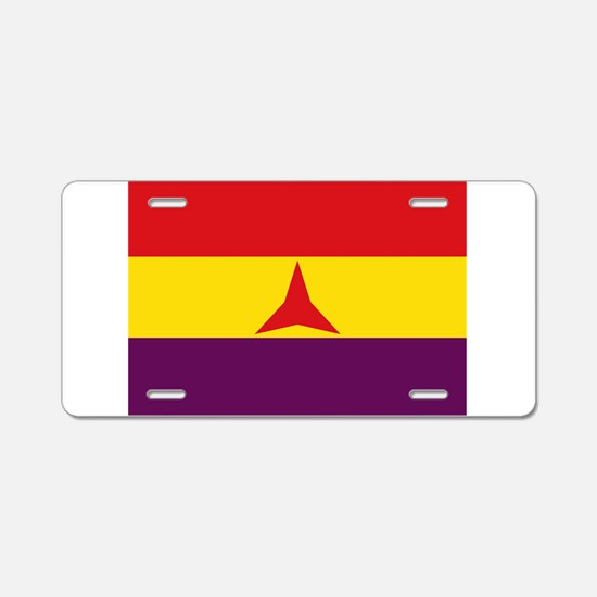 Flag of the International B Aluminum License Plate