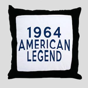 1964 American Legend Birthday Designs Throw Pillow