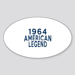 1964 American Legend Birthday Desig Sticker (Oval)