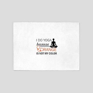 Yoga designs 5'x7'Area Rug