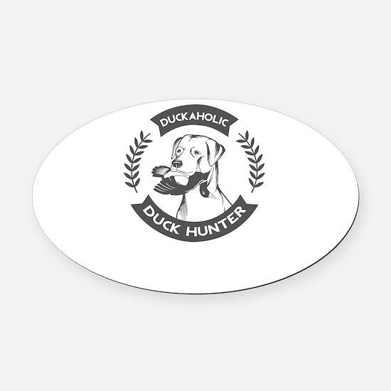 duckaholic Oval Car Magnet