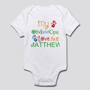 Oma And Opa Love Me Personalized Body Suit