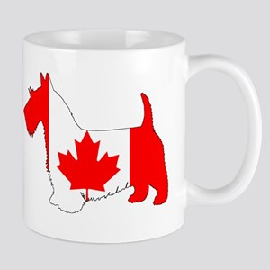 "Scottish Terrier ""Canadian Flag"" Mugs"