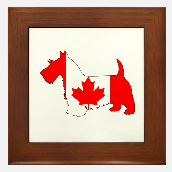 "Scottish Terrier ""Canadian Flag"" Framed Tile"