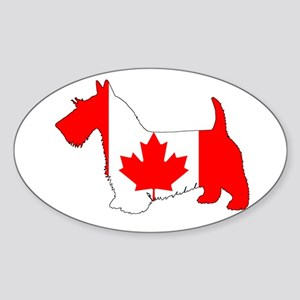 "Scottish Terrier ""Canadian Flag"" Sticker"