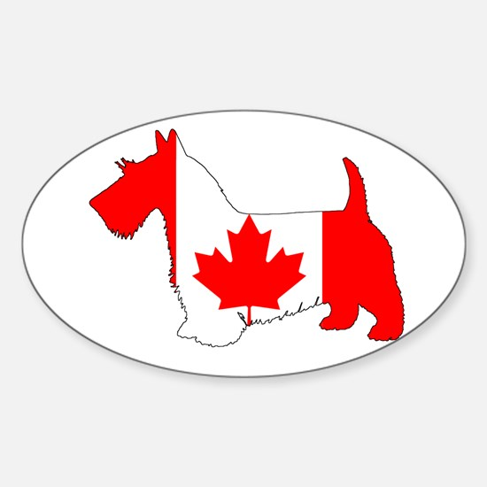 "Scottish Terrier ""Canadian Flag"" Decal"