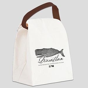 Leviathan Vintage Whale Canvas Lunch Bag