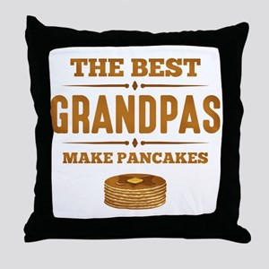 Best Grandpas Make Pancakes Throw Pillow