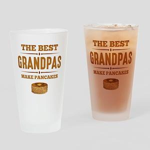 Best Grandpas Make Pancakes Drinking Glass