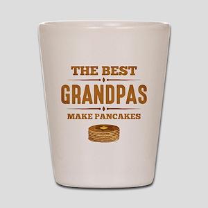 Best Grandpas Make Pancakes Shot Glass
