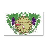 It's Wine-O-Clock Rectangle Car Magnet