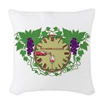It's Wine-O-Clock Woven Throw Pillow