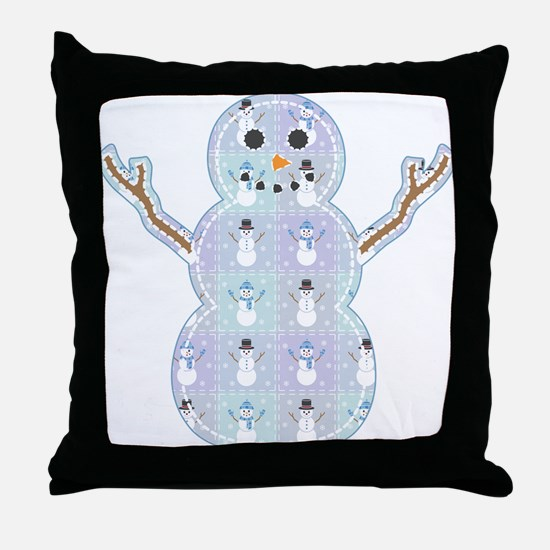 Winter Quilt Throw Pillow