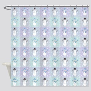 Winter Quilt Shower Curtain