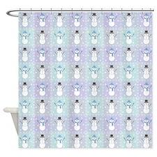 Winter Quilt Shower Curtain