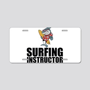 Surfing Instructor Aluminum License Plate