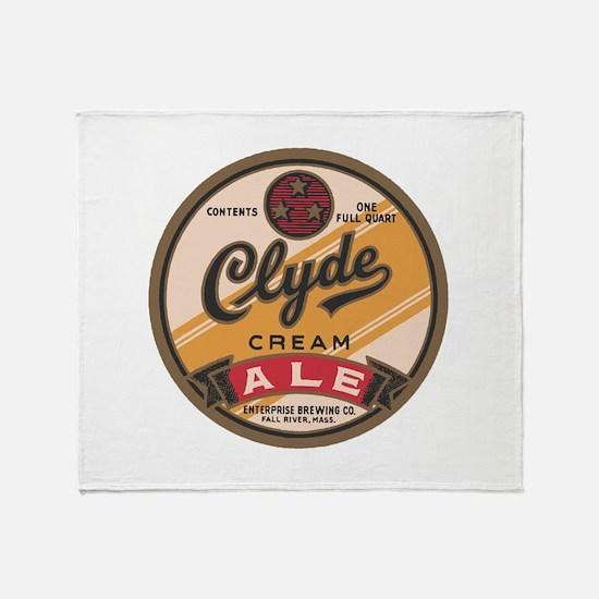 Clyde Ale Beer Logo Throw Blanket