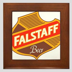 Falstaff beer design Framed Tile